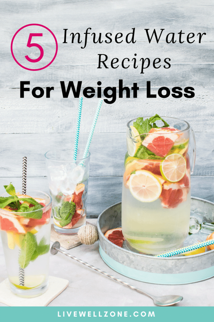 infused water recipes for weight loss in glasses and pitcher