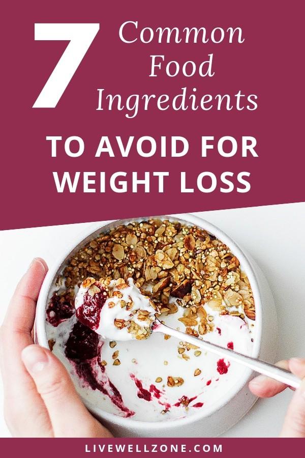 food ingredients yogurt granola