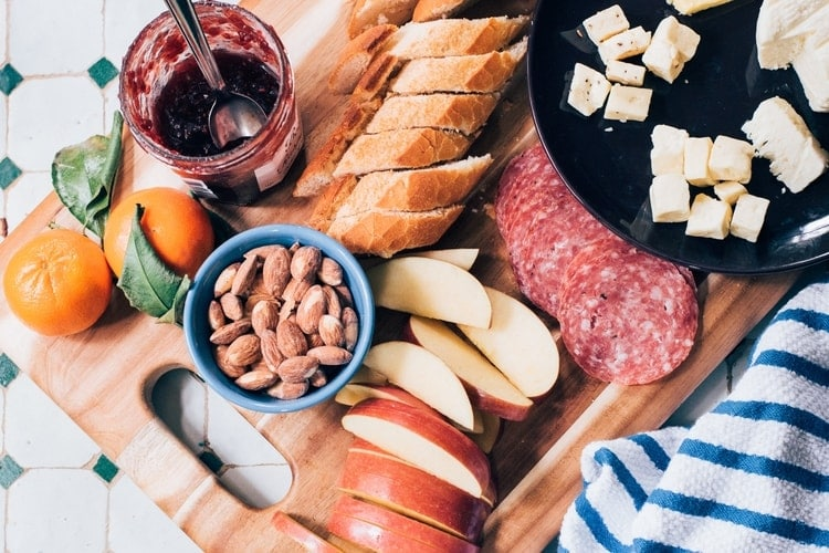 lose weight without dieting nuts cheese platter
