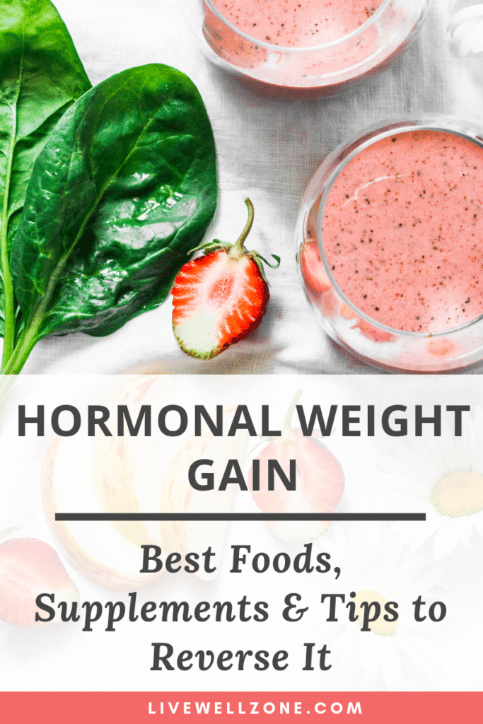 hormonal weight gain smoothie and greens