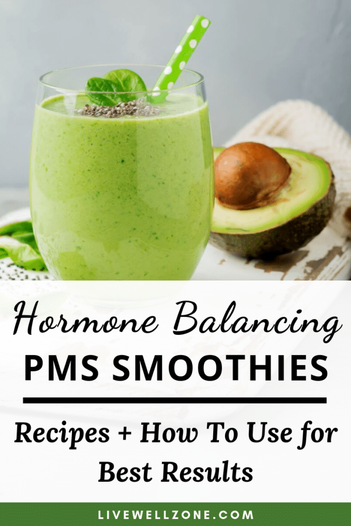 avocado smoothie in smoothies for pms