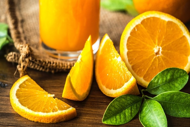 orange slices for smoothies for pms
