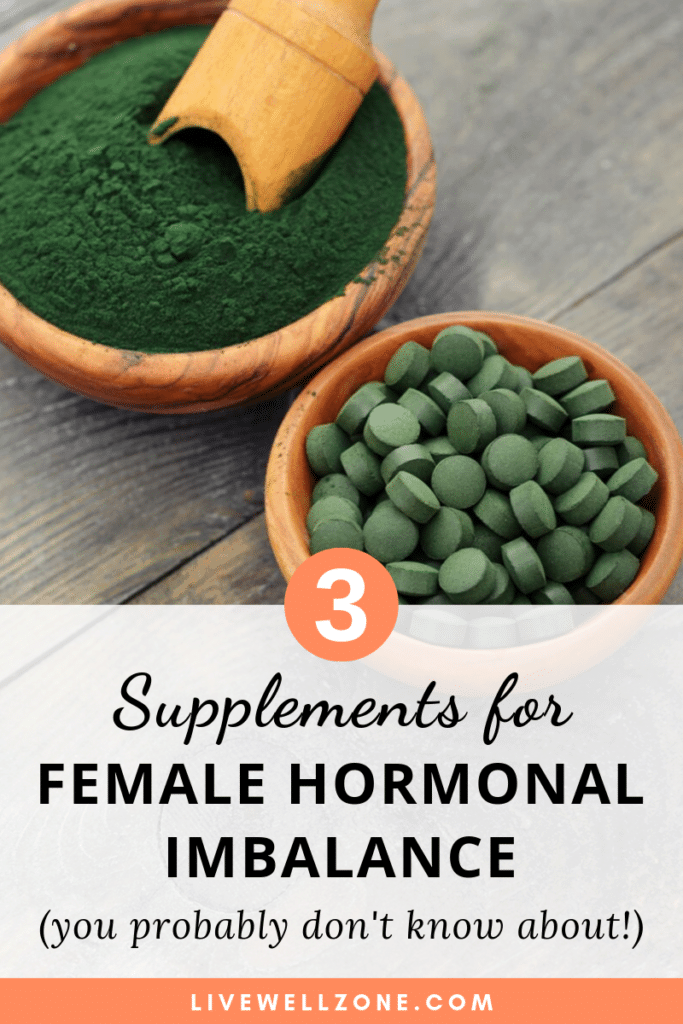 supplements for female hormonal imbalance spirulina powder and pills