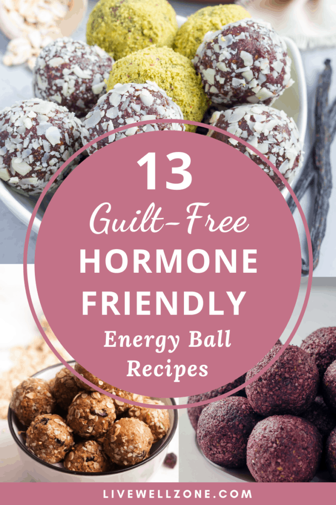 hormone friendly energy ball recipes pastel collage