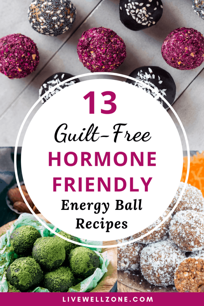 hormone friendly energy ball recipes purple collage