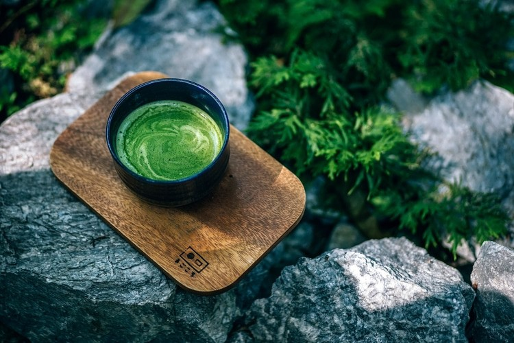matcha in a cup