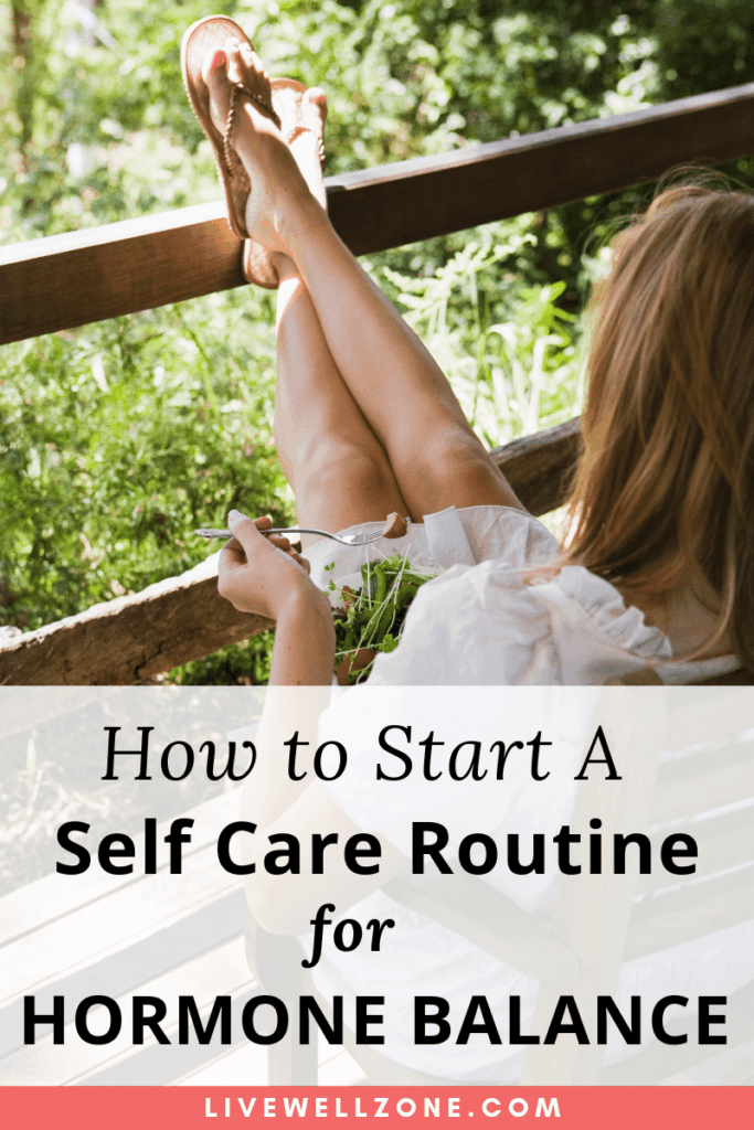 self care routine woman on porch