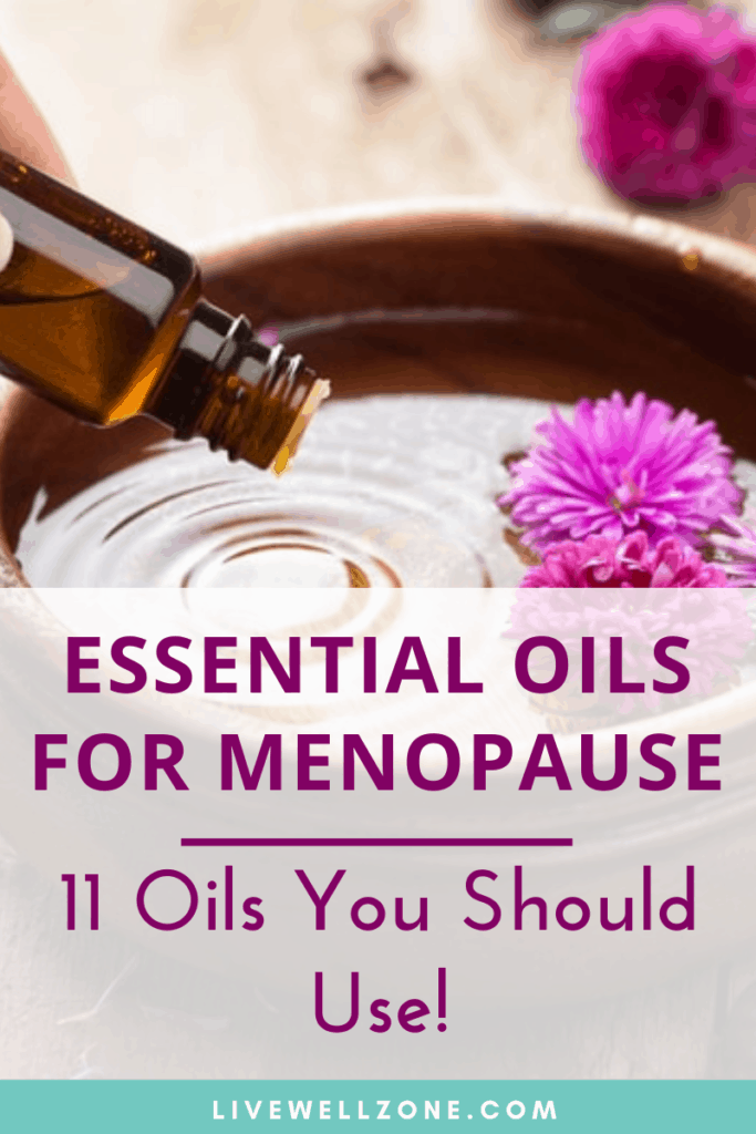essential oils for menopause bowl