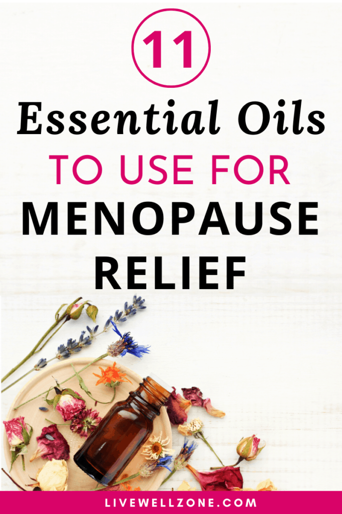essential oils for menopause rose pin