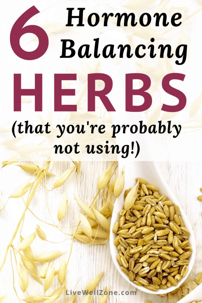 herbs that balance hormones showing wild oats