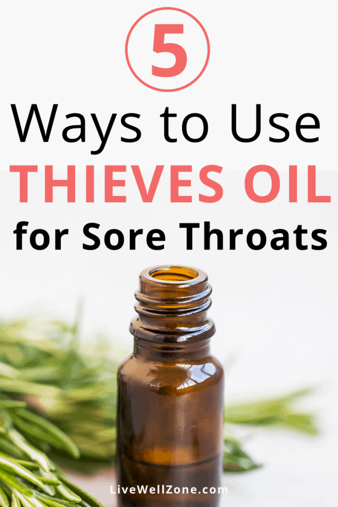 thieves oil for sore throat rosemary pin