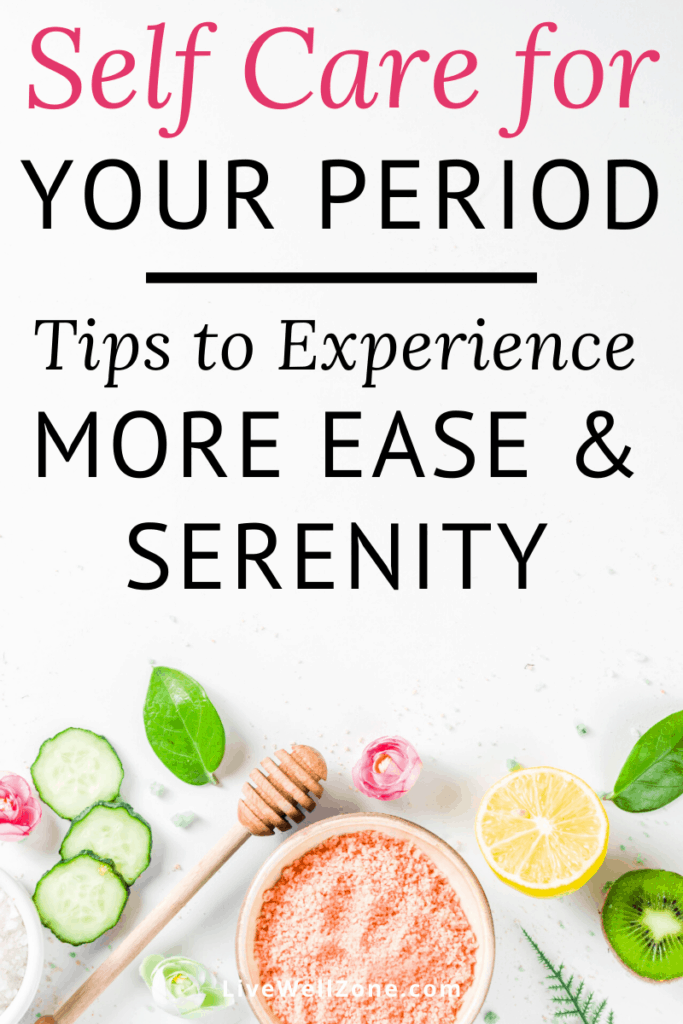 self care for period with honey lemon and pink salt