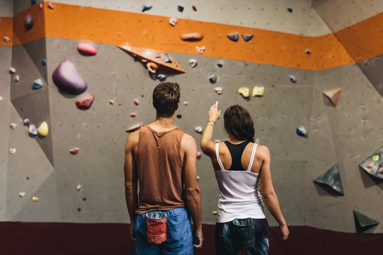 unusual self care ideas indoor rock climbing
