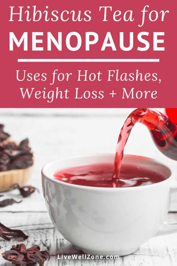 hibiscus tea for menopause in a cup