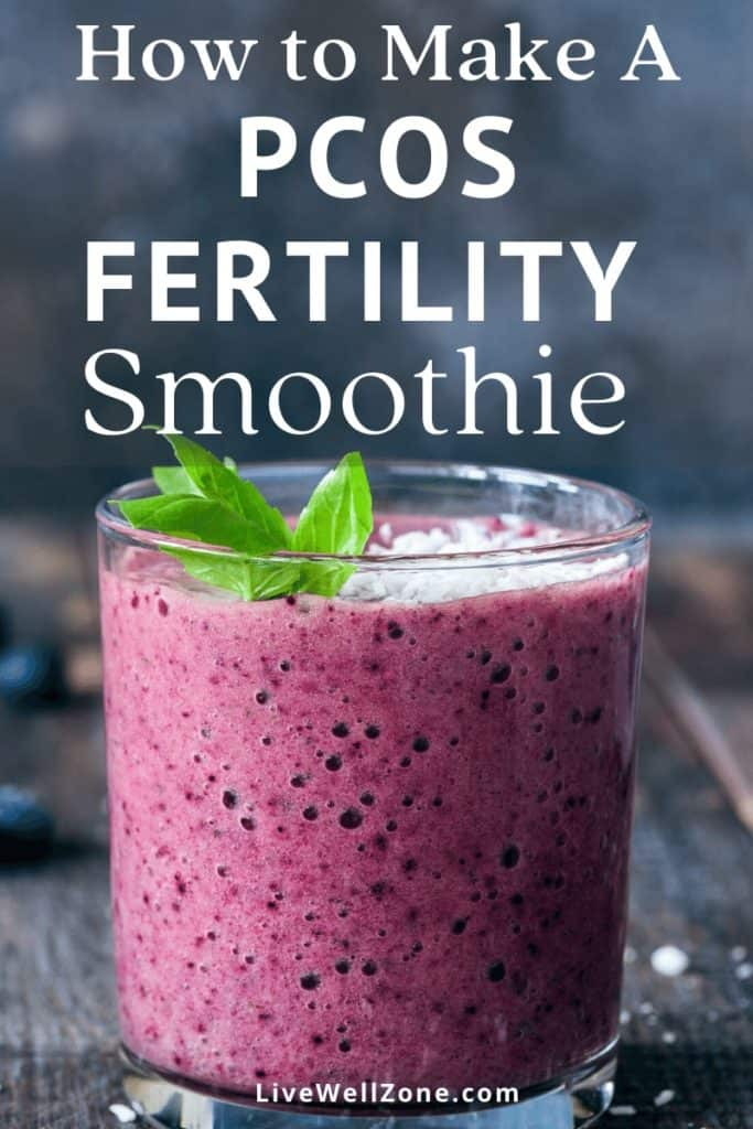 fertility smoothie for pcos with mint