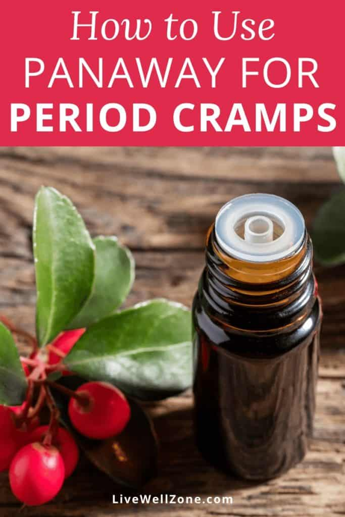 how to use panaway for menstrual cramps twig and bottle
