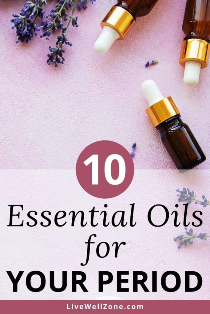 essential oils for your period with lavender flowers