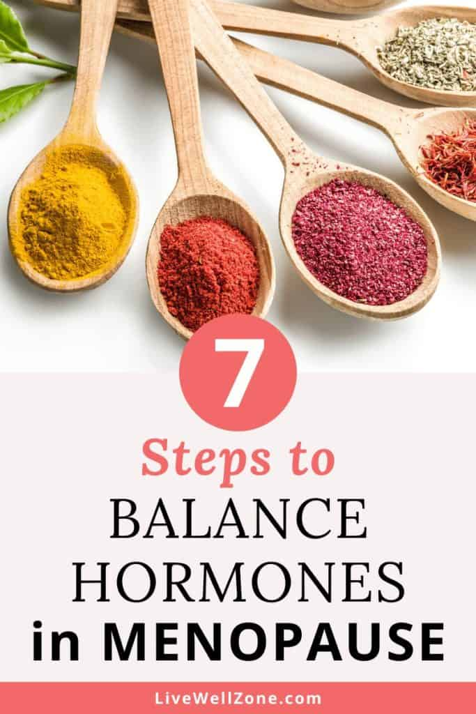go through menopause naturally and balance hormones
