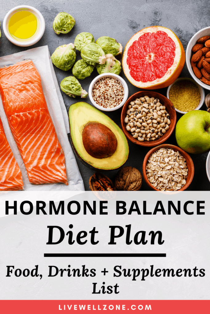 hormone balancing diet plan pin with salmon