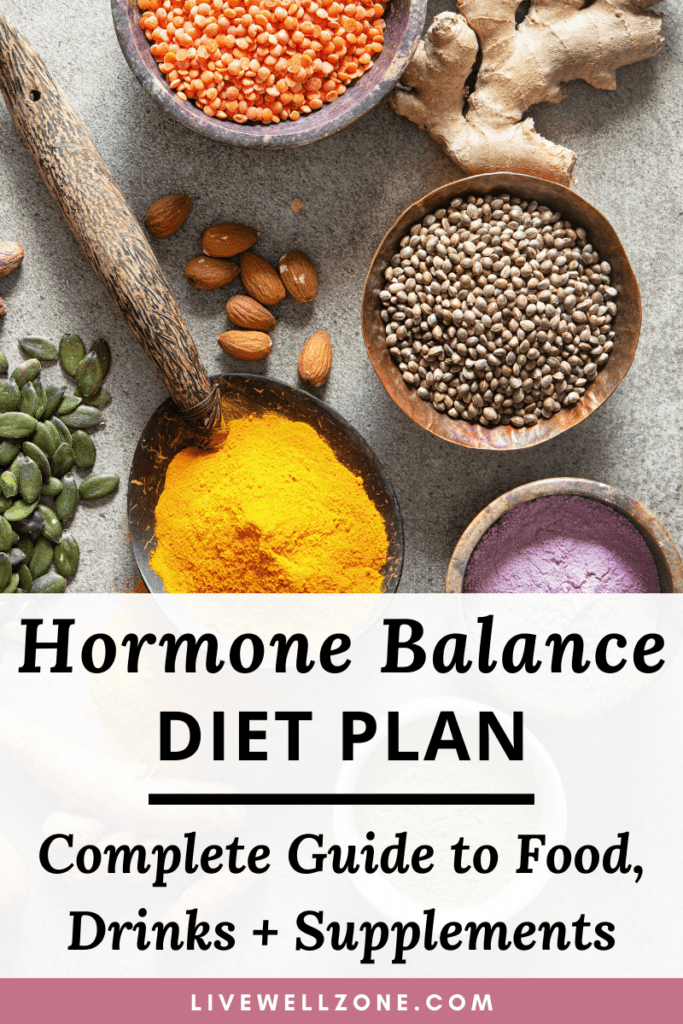hormone balancing diet plan pin with legumes