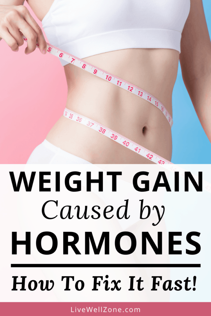 weight gain caused by hormones tape measure