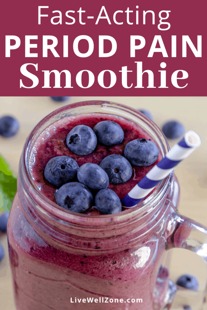 best smoothie for period cramps pin