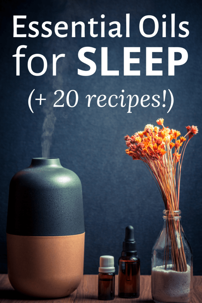 essential oil diffuser recipes for sleep dark background