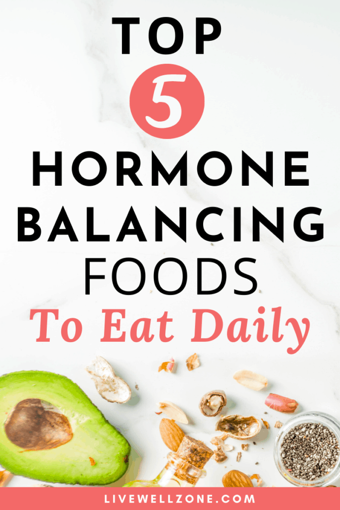 hormone balancing foods to eat coral pin with avocado
