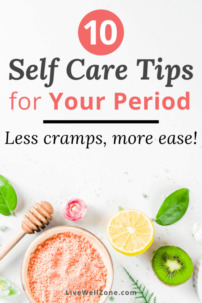 self care during your period with fruit and honey