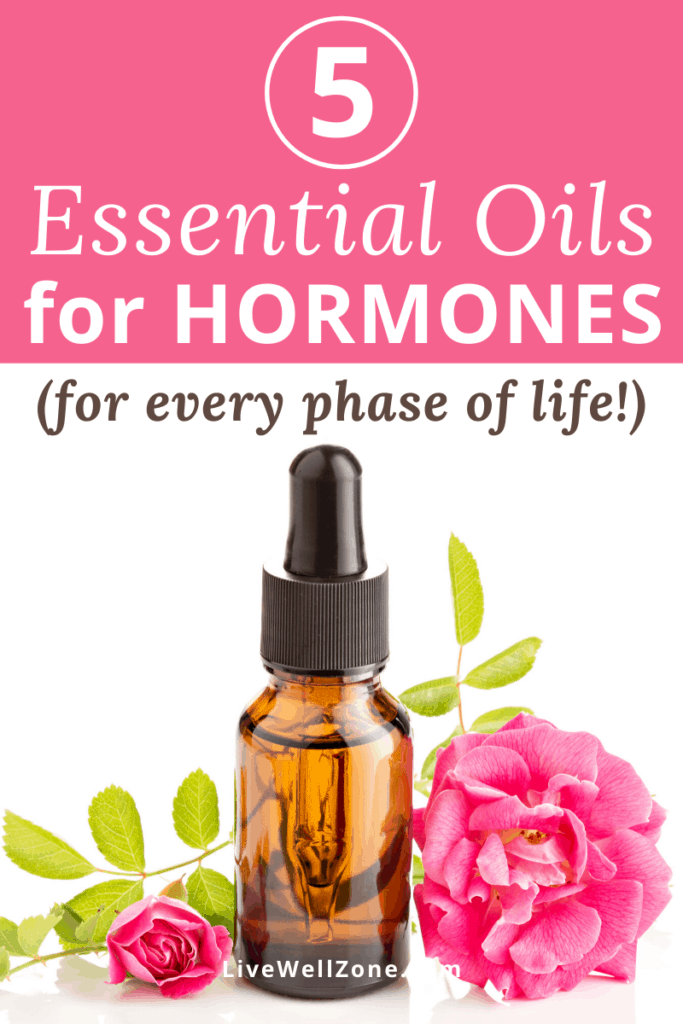 essential oils for hormone support pin with geranium