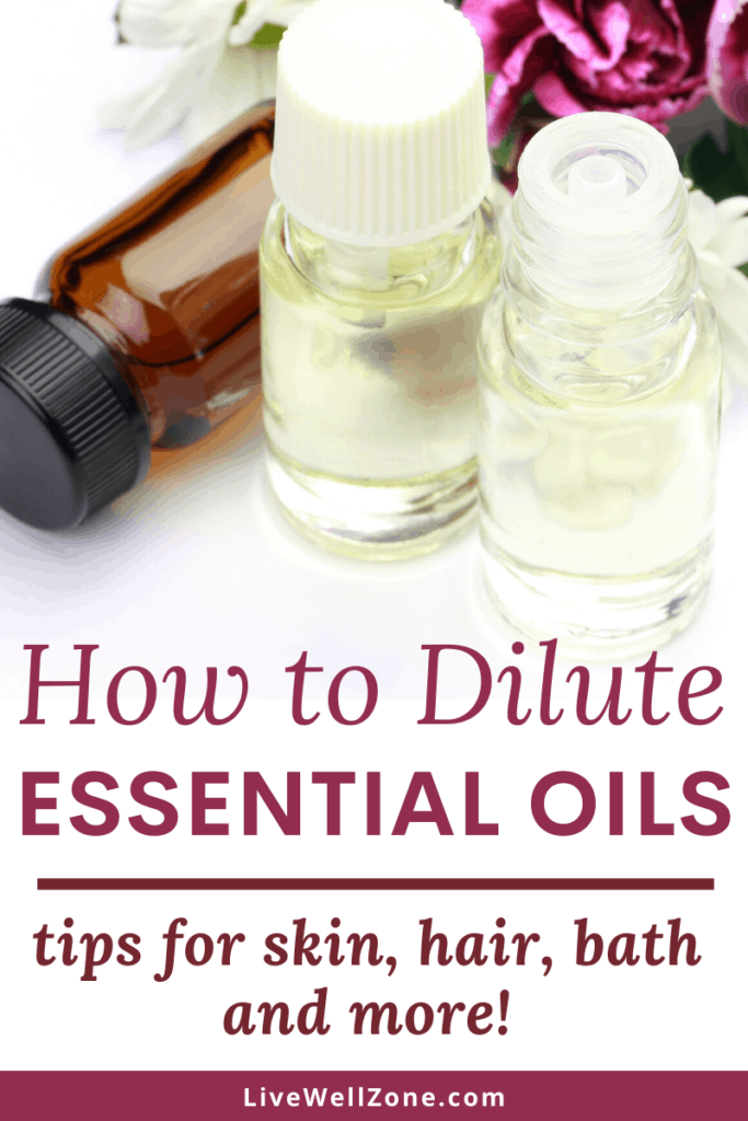 how to dilute essential oils pin with amber and clear bottles