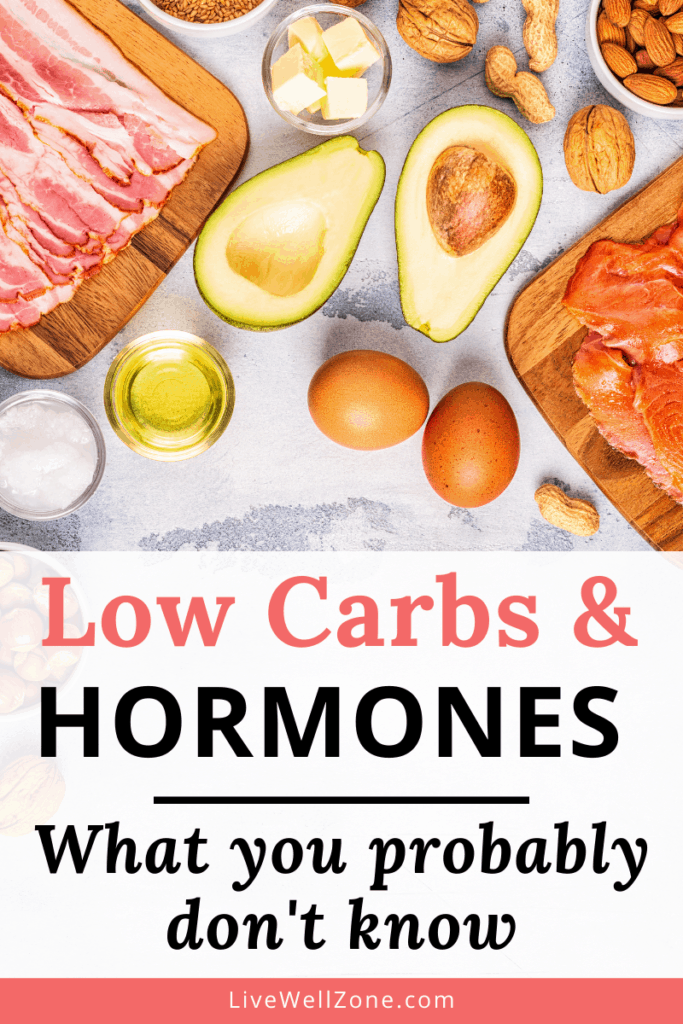 low carb diets and hormones pin with eggs meat avocado