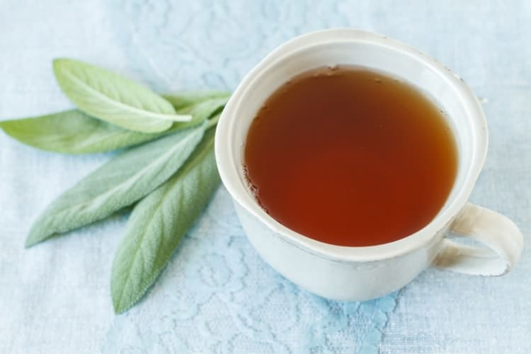 how to make sage tea for hot flashes and menopause symptoms