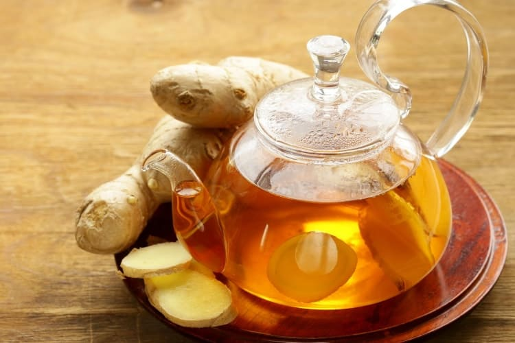 teas to drink for period cramps ginger