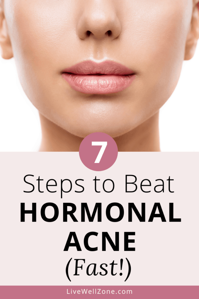 how to get rid of hormonal acne naturally pin clear skin