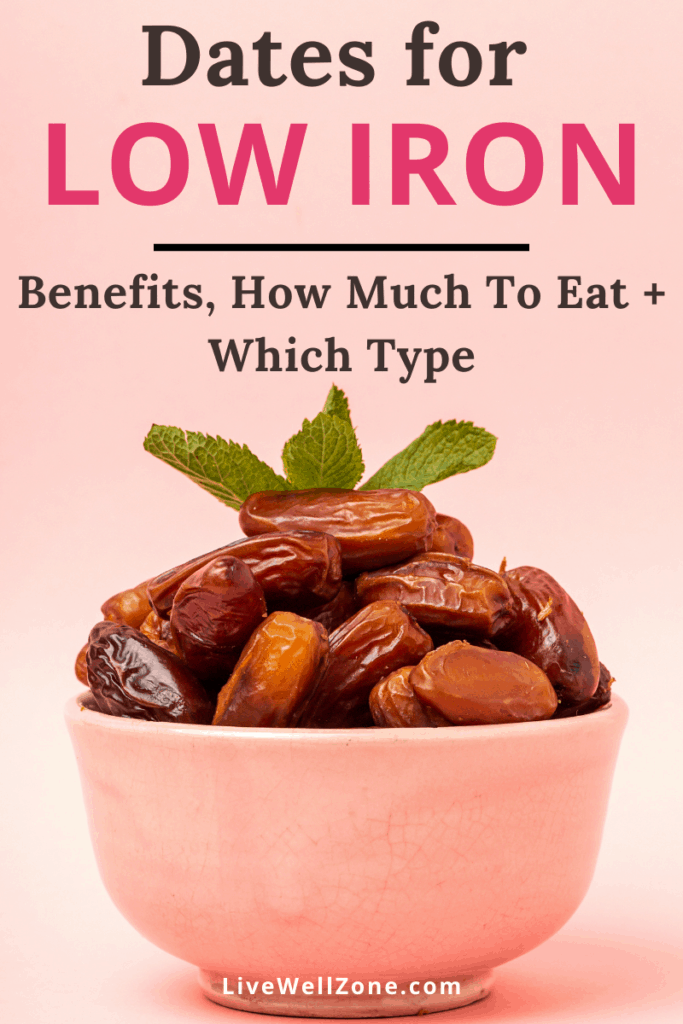 eating dates for iron deficiency - bowl with dried fruit