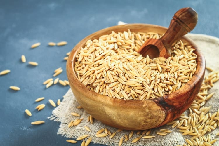 wild oats in a bowl