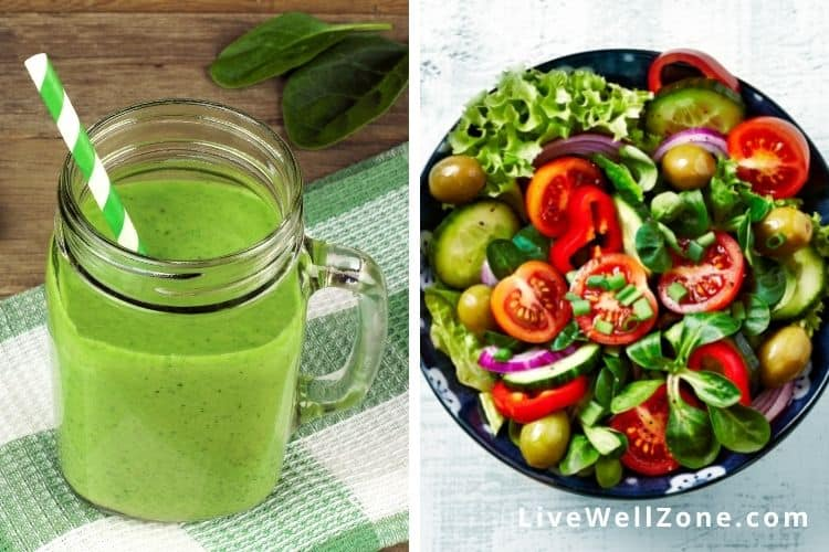 Green Smoothie vs Salad: Which is Better | Pros and Cons