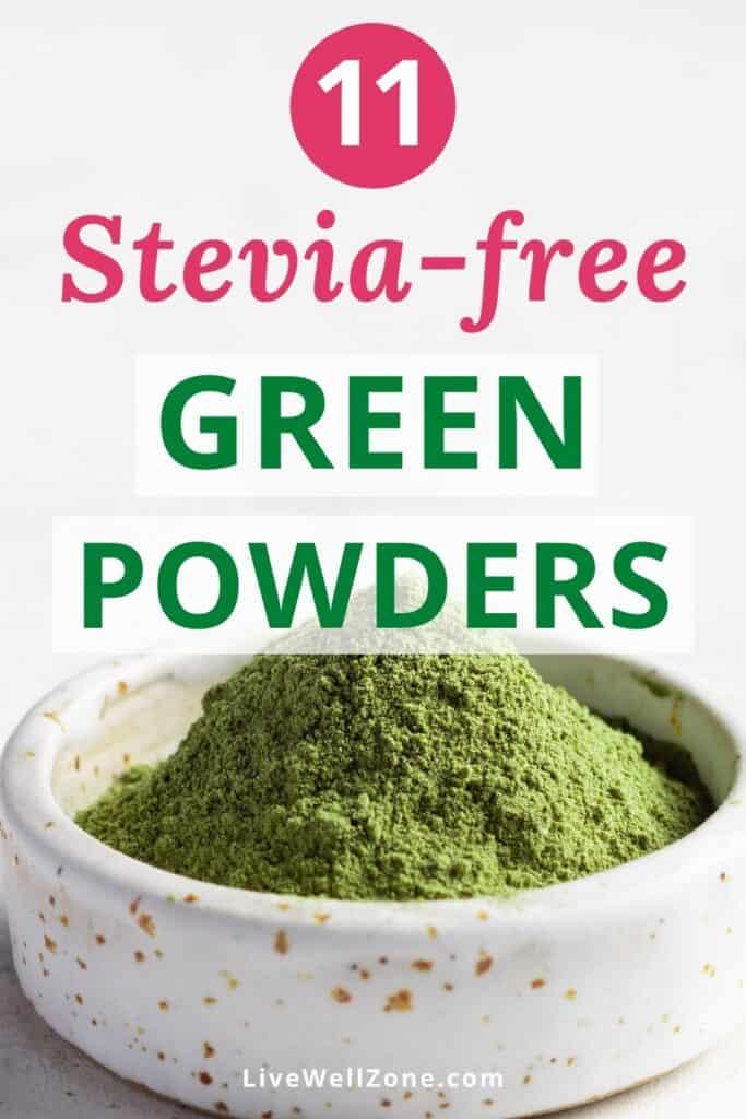 stevia free green powder supplement