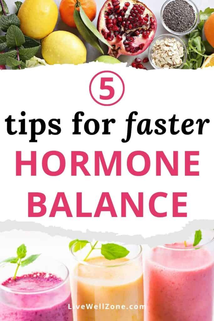 pin - how can I balance my hormones in a week